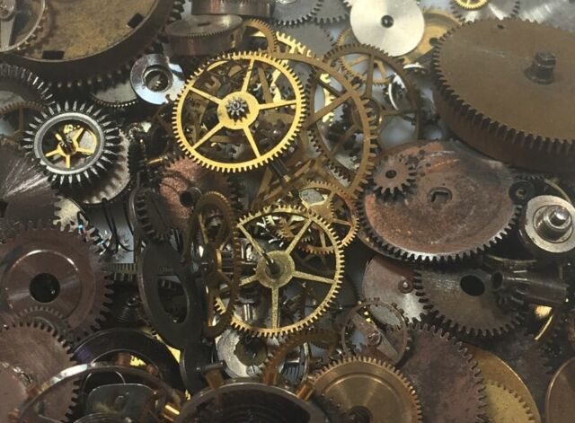 10grams steampunk watch parts old pieces steam punk cogs gears