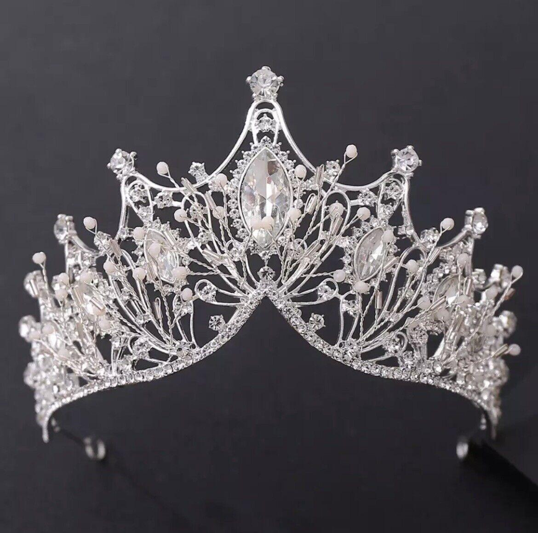 Bridal Hair Wedding Crystal Princess Tiara, Headband, Crown Baroque Vintage