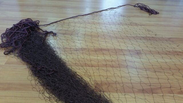 23m Brown Fishing Net with Hanging Rope