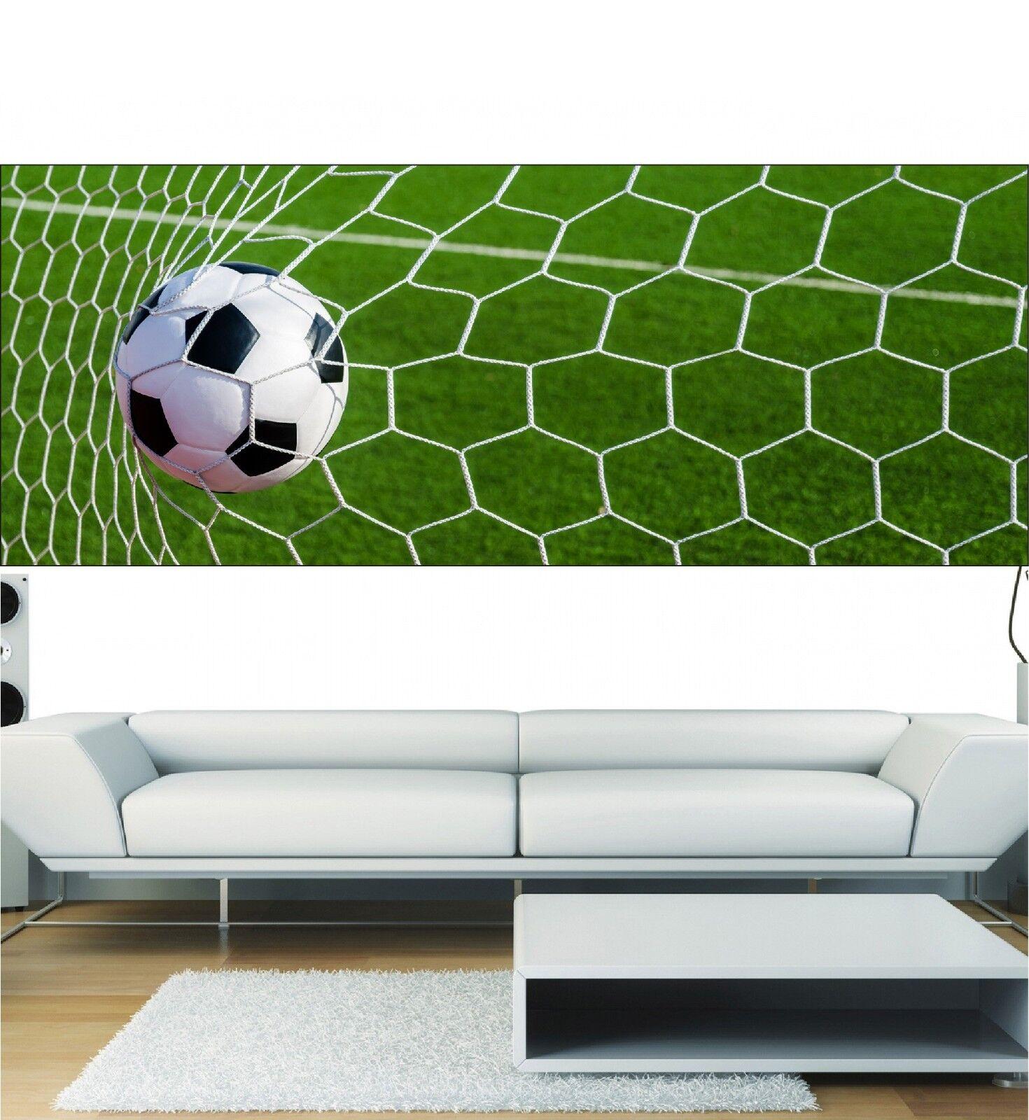 Papel pintado panorámica cage de fútbol 3694 Arte decoración Pegatinas