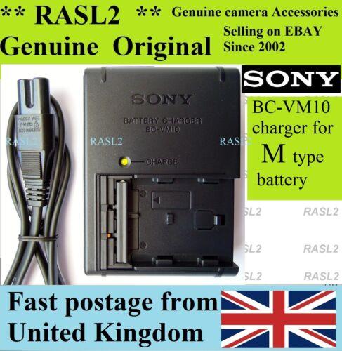 A57 A350 A500 A550 NP-FM500H Alpha A700 A850 A200 Cargador Original Sony BC-VM10