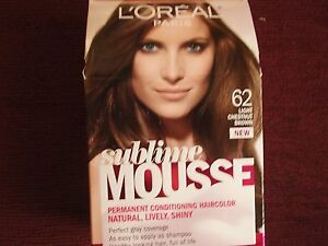 Image Is Loading Loreal Paris Sublime Mousse 62 Light Chestnut Brown