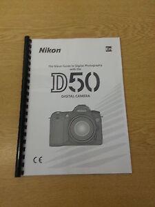 nikon d50 digital camera fully printed instruction manual user guide rh ebay ie canon d50 camera manual moultrie d50 camera manual