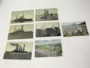 VINTAGE OLD LOT EARLY 1900'S U.S. Atlantic Fleet Navy H.H. Stratton POSTCARDS