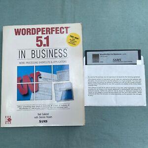 WordPerfect-5-1-Business-Vintage-Computer-Software-5-25-Floppy-1991-Book-SAMS