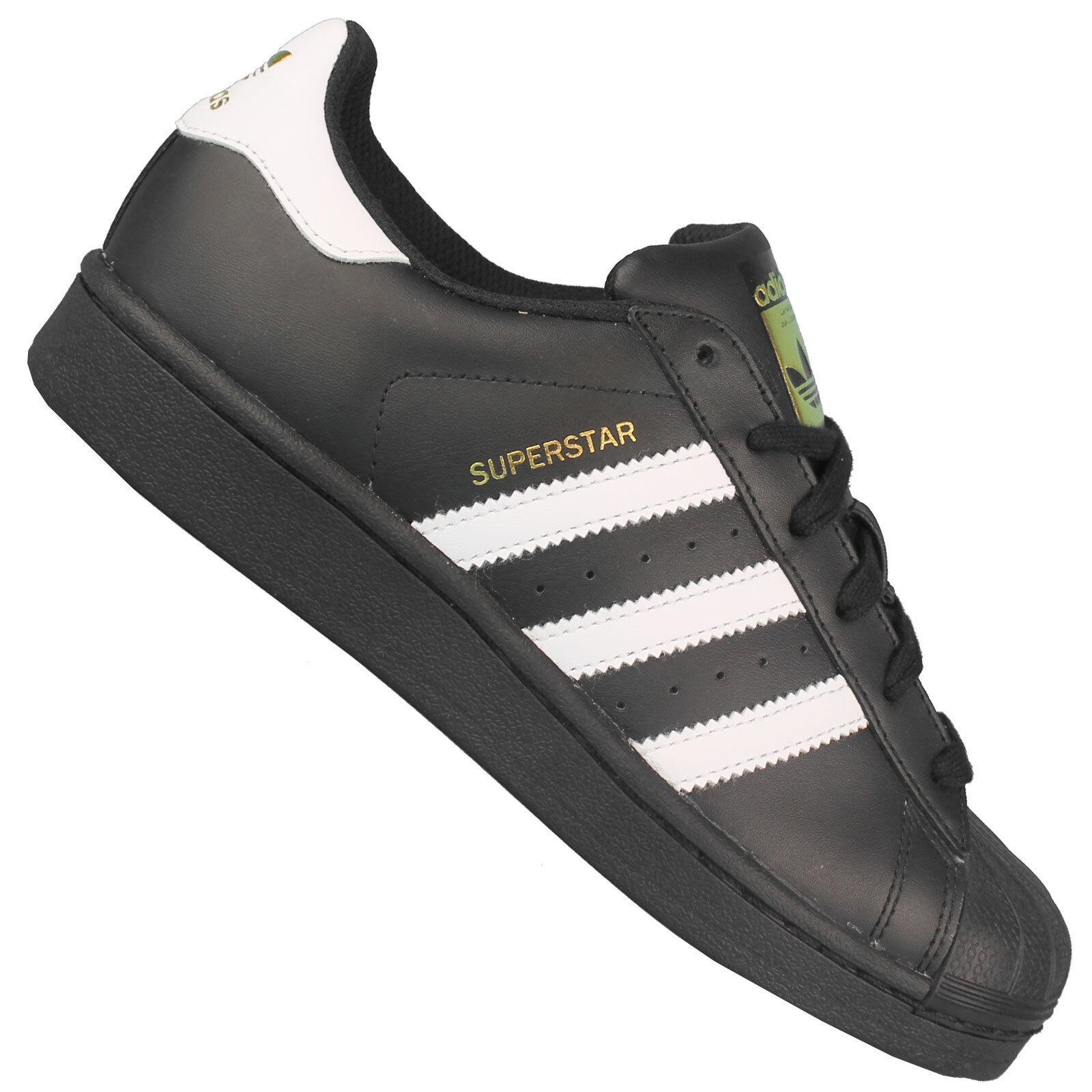 ADIDAS Originals Superstar Sneaker b23642-Da Donna Sneaker Superstar Nero con strisce bianche NUOVO 659549
