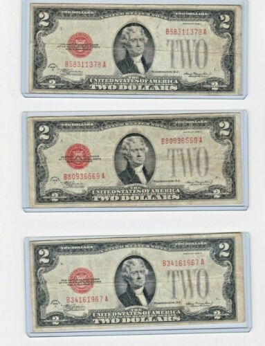 1 each 1928C Red Seal 1st year Note in new protector