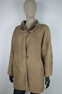 SHEARLING-MONTONE-SHEEPSKIN-Cappotto-Giubbotto-Jacket-Giacca-Tg-44-Woman-Donna-C