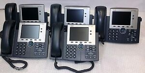 Lot-of-5-Cisco-CP-7945G-POE-Color-Display-Unified-IP-VoIP-Business-Telephone