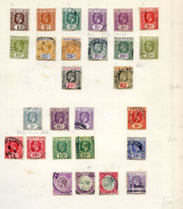 Ceylon-1921-to-1946-KG-5th-and-6th-issues-on-5-pages-used-2018-10-17-04
