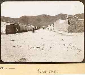 Algerie-Mecheria-Une-rue-ca-1900-Vintage-citrate-print-Tirage-ci