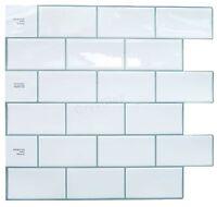 Crystiles Decorative Tiles Peel And Stick Self-adhesive Vinyl Wall Tiles, Subway