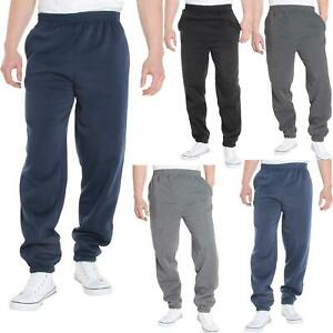 Mens-Tracksuit-Bottoms-Striped-Joggers-Jogging-Trousers-Fleece-Pants-Casual-Work