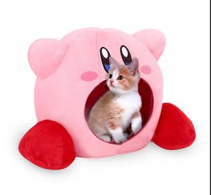 Super-Kawaii-Kirby-siesta-almohada-sueno-de-Peluche-Juguete-Cosplay-cama-del-animal-domestico