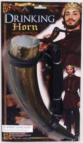 Drinking Horn Renaissance Medieval Cup Fancy Dress Halloween Costume Accessory