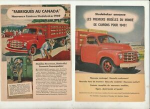 8-pages-Vintage-ORIGINAL-1949-Studebaker-truck-Pick-Up-Magazine-Ads-french