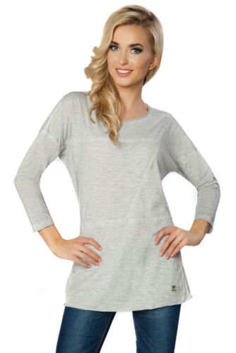 Womens Casual New Top Crew Neck 3//4 Sleeve T-Shirt Blouse Shirt Size 8-12 FT2211