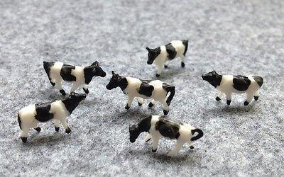 1:150 Scale N Gauge Model Railway Cows - Pack of 6