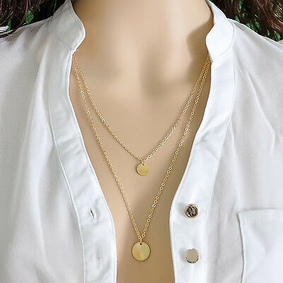 Fashion Silver gold Triangle Pendant Statement Bib Chunky Charm Choker Necklace