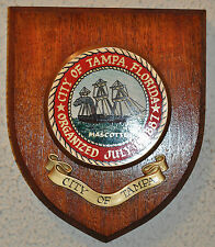 City of Tampa Florida plaque shield crest coat of arms seal
