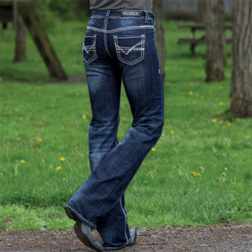Rock and Roll Cowgirl Abstract V Riding Jean