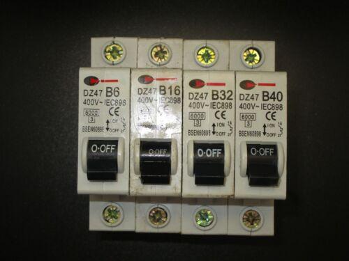 CGD DZ47-B6-6A  B16-16A B32 32A B40 40A MCB Type B Single Pole MCB Used