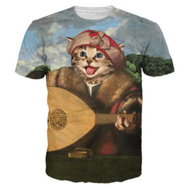 Female Cat with Glasses T-Shirts Cats 3dRose VintageChest Arthur Thiele