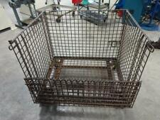 Container Wire Industrial Stackablecollapsible 40wide With Fold Down Gate