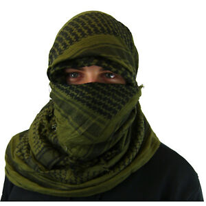 Shemagh-Military-Arab-Army-SAS-Keffiyeh-Desert-Scarf-100-Woven-Cotton-Wrap