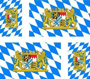 4-x-Aufkleber-Auto-Sticker-tuning-motorrad-bayern-bavaria-Fahne-Flagge