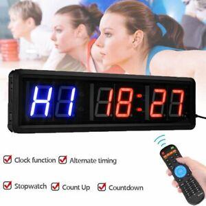 6 Digits LED Gym Intervall Timer Stoppuhr Fernbedienung für Fitnessstudio