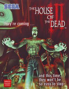 House Of The Dead Iii Arcade Flyer Original Nos Halloween Zombies