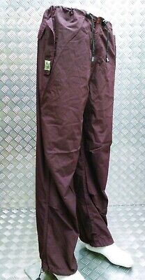 Jungle Streetwear Military Issue Lightweight Para Trousers Over Dyed Burgundy