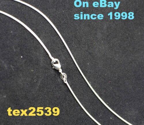 USA Serpent Plaqué Argent Estampillé 925 environ 60.96 cm Collier 2 mm U choisir 16,18,22,or 24 in