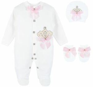 2b1c2a4ffe54 Lilax Baby Girl Jewels Crown Layette 3 Piece Gift Set 0-3 Months ...