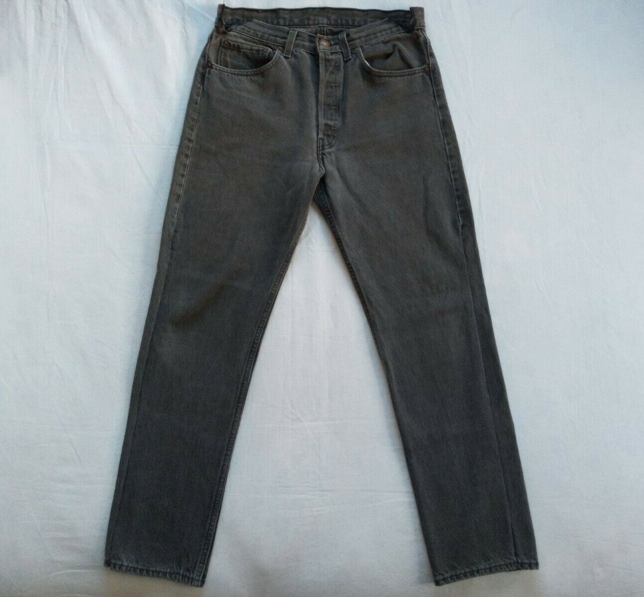 Levi's 501 Made In USA 1990's Black Jeans Size 32… - image 1