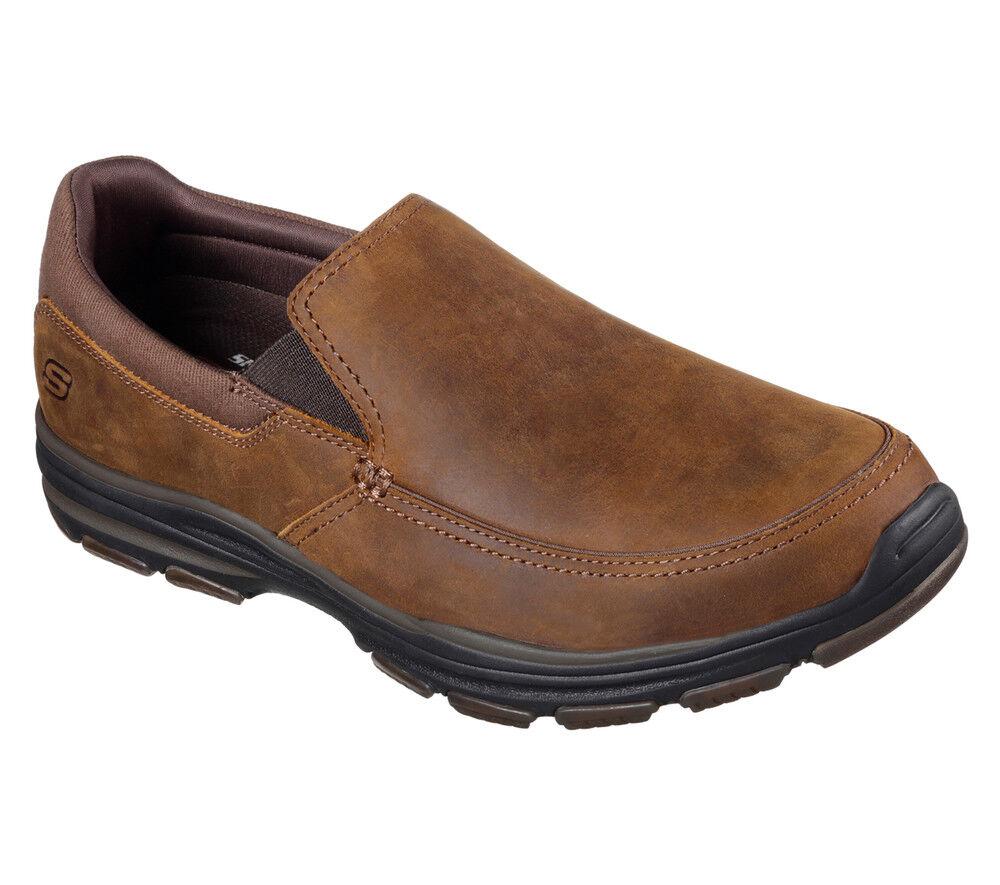 NEW Loafer SKECHERS Hombre Sneakers Slippers Slip On Loafer NEW Memory Foam GARTON Marrón 8ad8c7