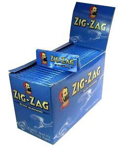 Zig Zag Standard Blue Rolling Paper - Box Of 100 Booklets