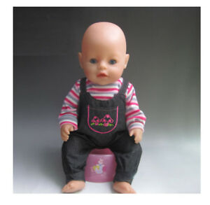 Babypuppen & Zubehör Puppenkleidung z.B.Rosa  Einhorn 43cm Baby Born Sister Kleider Klamotten JAKO-O Puppen & Zubehör