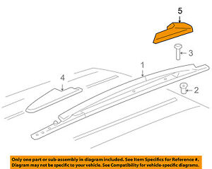 GM OEM Roof Rack Rail Luggage Carrier-Front Cover Right 15005730