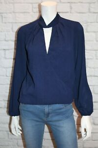 Rumor-Boutique-Brand-Wrap-Front-Long-Sleeve-Tee-Size-10-BNWT-SM77