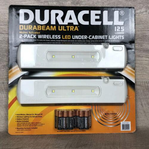 Duracell Durabeam Ultra 2 Pack Motion Sensor Lights 125 Lumens With 12 Batteries