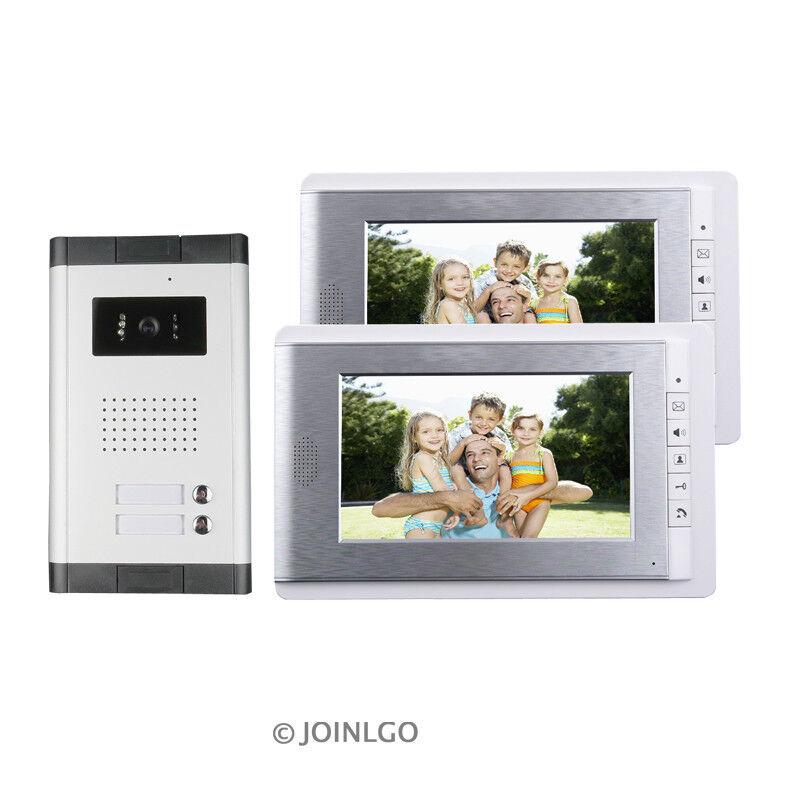 Apartamento Video Puerta Telefónica Cableada 7  sistema de intercomunicación + Cámara 2 monitores de timbre