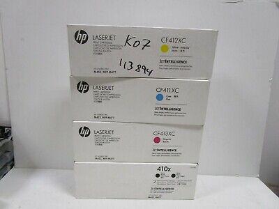 Genuine HP 410X CF410X CF411X CF412X CF413X Sealed CF410//1//2//3XC M452 M477