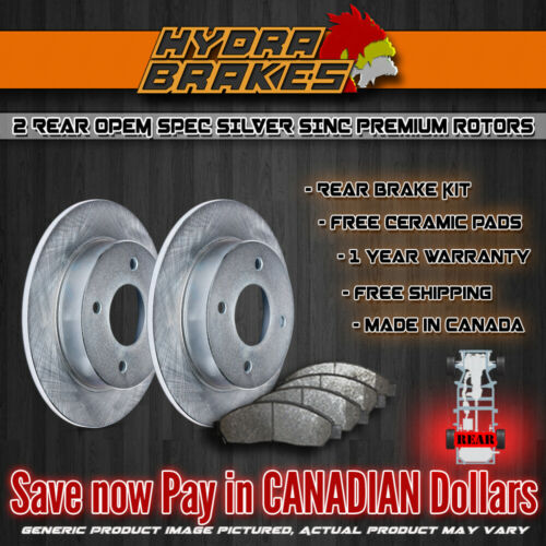 FITS 2013 2014 2015 2016 HONDA ACCORD OE BLANK Brake Rotors CERAMIC SLV R