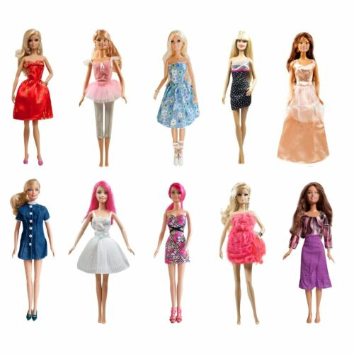 """20-piece Doll Dresses Clothes 10 Handmade Doll Dress /& 5 shoes for 11.5/"""" Dolls"""