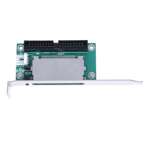 40-Pin CF compact flash card to 3.5 IDE converter adapter PCI bracket back EL