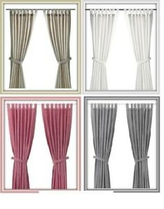 Image Is Loading Ikea Lenda Curtains With Tie Backs One Pair