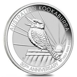 2020 1 Kilo Silver Australian Kookaburra Perth Mint .9999 Fine BU In Cap