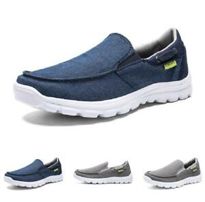 New-Mens-Comfort-Pumps-Canvas-Loafers-Shoes-Flats-Slip-on-Breathable-Soft-Casual